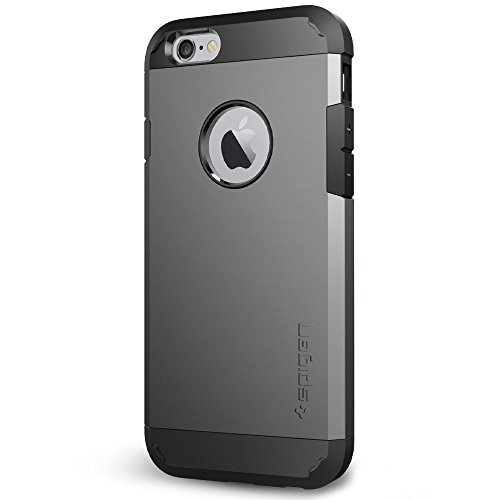 Spigen Tough Armor iPhone 6 Case with Extreme Heavy Duty Protection and Air Cushion Technology for iPhone 6S / iPhone 6 - Gunmetal