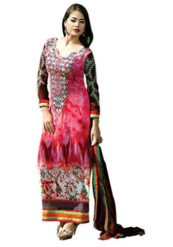 Mayloz Semi Stitched Georgette Printed Salwar Kameez M247-7003