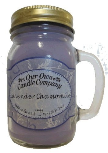 13oz LAVENDER CHAMOMILE Scented Jar Candle (Our Own Candle Company Brand) Made in USA - 100 hr burn (1)