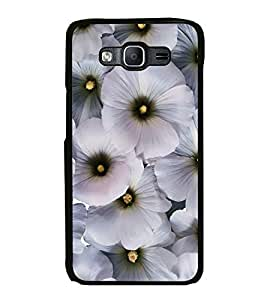 Printvisa Ultra White Flowers 2D Hard Polycarbonate Designer Back Case Cover for Samsung Gala...
