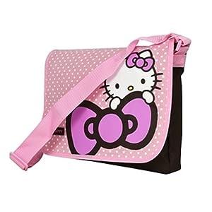 HELLO KITTY DOTS MESSENGER SCHOOL BAG