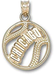 &quot;Chicago&quot; Cubs Pierced Baseball Charm/Pendant