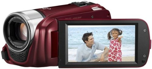 Canon LEGRIA HF R26 High Definition Camcorder - Red (20x Optical Zoom, 3 inch Touchscreen LCD)