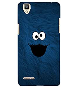 PrintDhaba cute smilie D-1141 Back Case Cover for OPPO F1 (Multi-Coloured)