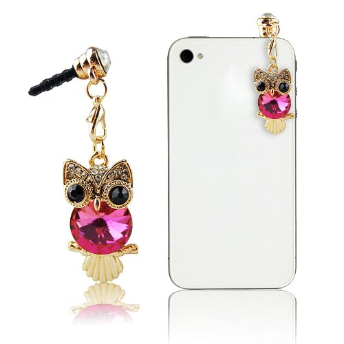Mavis'S Diary Dust Plug-Earphone Jack Accessories Cute Animal Design With Flexible Head/ Cell Charms / Dust Plug / Ear Jack For Iphone 4 4S 5 5S / Ipad / Ipod Touch / Samsung Galaxy/ Samsung Note Series Other 3.5Mm Ear Jack (Hot Pink Owl)