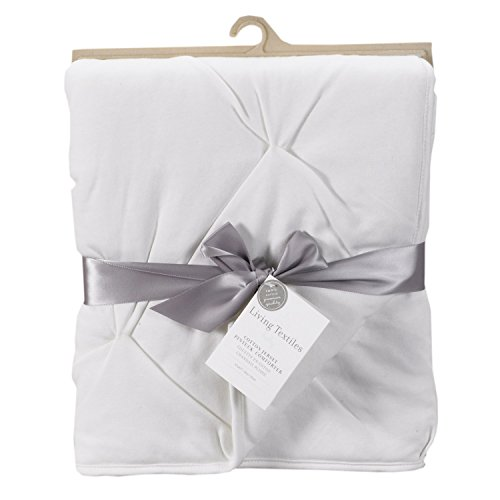 Living Textiles Jersey Pintuck Comforter, White
