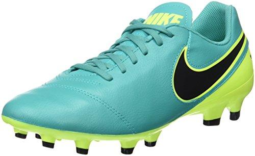 Nike Men's Tiempo Genio II Leather FG Clear Jade/Black Volt Soccer Cleat 9 Men US (Tiempo Nike Ii compare prices)