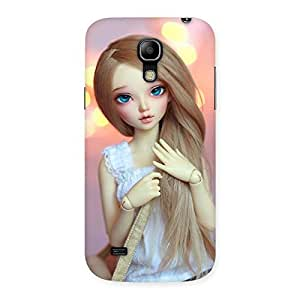 Stylish Doll With Bag Multicolor Back Case Cover for Galaxy S4 Mini