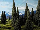 Model Railroad Pine Trees - 30 pack