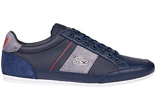 Lacoste Men's Chaymon 216 1 Fashion Sneaker, Navy/Light Grey, 9 M US