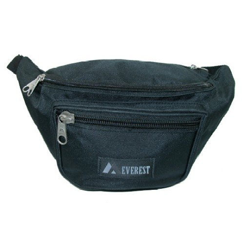 Large Size Fabric Waist Pack (Black)