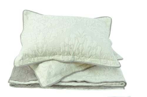 Sleeping Partners Damask Quilt/Sham Set, King