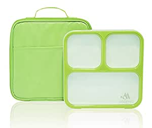 bento lunch box 3 portion control leak proof compartments inc. Black Bedroom Furniture Sets. Home Design Ideas