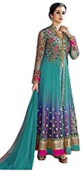 Shri Balaji Emporium Women's Net Unstitched Suit (_3, Blue)