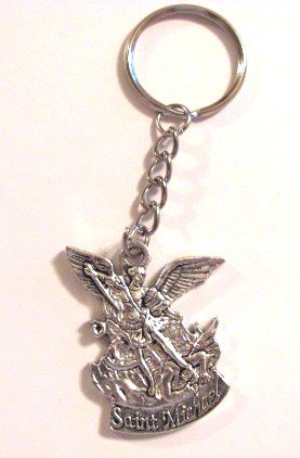 Blessed By Pope Benedetto XVI St Saint Michael Keychain
