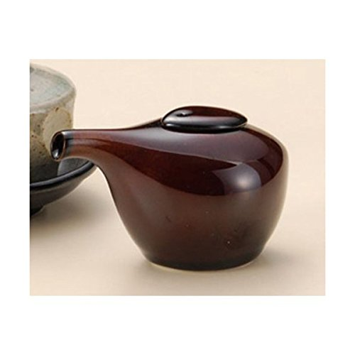 調味料入 うるし釉トラフグ型醤油差 [10×6×6cm 60cc] 和食器 料亭 旅館 飲食店 業務用 陶器