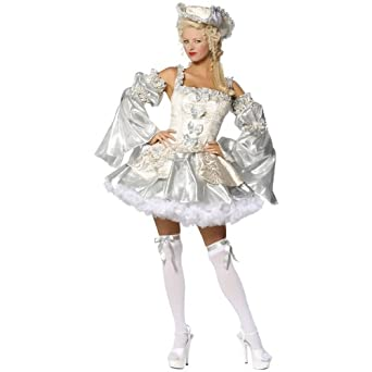 Marie Antoinette Silver Sexy Costume