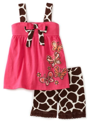 Nannette Toddler Girls Giraffe Bermuda Set