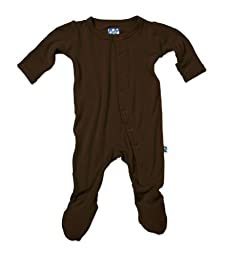 KicKee Pants Footie, Bark, 3-6 Months
