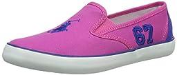 Polo Ralph Lauren Kids Venus Fashion Sneaker (Little Kid/Big Kid), Regatta Pink/Royal, 1.5 M US Little Kid