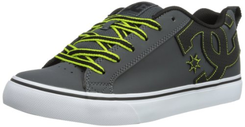 DC Shoes Mens Court Vulk Skateboarding Shoes D0303181 Dark Shadow/Black 7 UK, 40.5 EU, 8 US