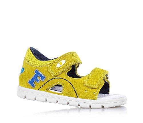 FALCOTTO - Sandalo giallo scamosciato, ideale per il gattonamento e il primo passo, Bambino-22