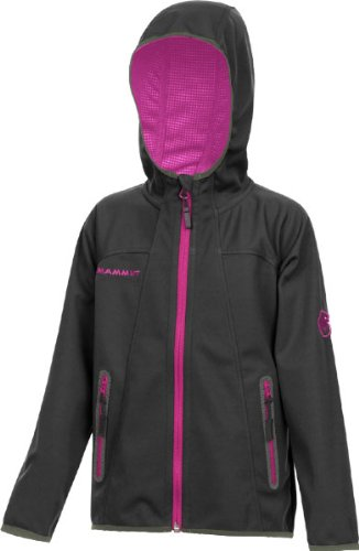 Mammut Ultimate Hoody Jacket Kids black/azalee 164