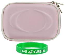 EVA Hard Shell (Pink) Case Polaroid t1232 12MP Digital Camera Green
