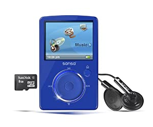SanDisk Sansa Fuze 4 GB Video MP3 Player (Blue)