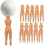 Nude Ladies Golf Tees Pack Of 10 Nuddie Naked Golfers Balls Gift By AoE Performance