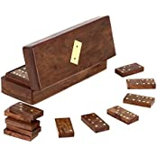 Set Of 4 - Handmade Wooden Domino Tile Game In Storage Box - With Playing Instructions - Gifts For BirthDay -...