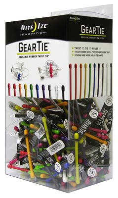Nite Ize Gt3gb-09-a1 Reusable Rubber Twist Ties, Assorted Colors