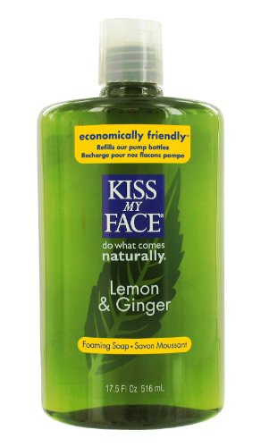 Kiss My Face Organic Lemon & Ginger Self Foaming Liquid Soap Refill, 17.5-Ounce Bottles (Pack of 3)