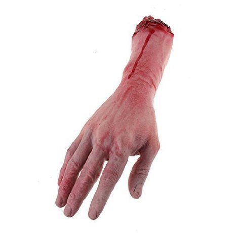 Bloody Cut Off Fake Lifesize Arm Hand Scary Halloween Prop by Fake Body Parts by ETS