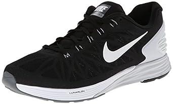 Nike Men's Lunarglide 6 Black/White/Pr Platinum/Cl Gry Running Shoe 8 Men US