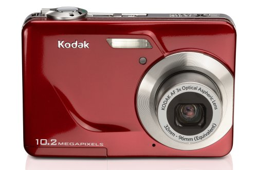 Kodak EasyShare C180 10.2MP Digital Camera with 3x Optical Zoom and 2.4 inch LCD – Red