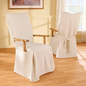 duck solid dining room arms chair cover natural armchair slipcovers