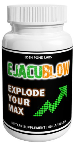 Ejacublow-Natural Semen Volume Enhancement, 60 Capsules, Strong Orgasm and Ejaculation Formula, 1 Capsule Per Serving