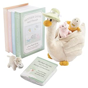 Baby Aspen 5 Piece Mother Goose and Friends Plush Gift Set