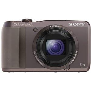 Sony DSC-HX20VT Cyber-shot Digitalkamera (18,2 Megapixel, 20-fach opt. Zoom, 7,5 cm (3 Zoll) Display, Schwenkpanorama, Full HD) braun