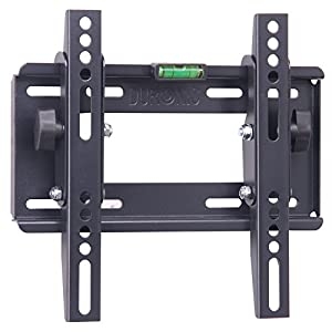 "Duronic TVB123S Heavy Duty Adjustable Black Wall Bracket For Plasma, LCD & LED Screens For 22"" - 37"" Wide Screens VESA: 200, 100 - With Tilt down"