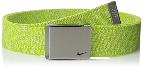 Nike Men's Single Web Heather Belt, Volt, One Size