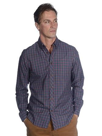Ben Sherman Men's Laundered Twill Tattersall Check Long Sleeve Woven Shirt NAVYBLAZER XXL