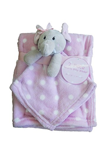 Elephant Security Baby & Plush Blankets Pink White Polkadots Polka Dots Blanket