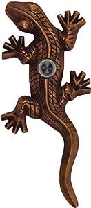 Solid Brass Gecko Doorbell - Oil Rubbed Bronze