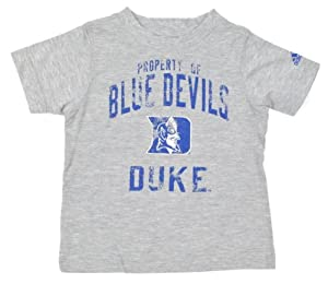 Buy Duke Blue Devils adidas Kid's Grey Distressed Property Of T-Shirt by adidas