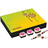 Rakhi Gifts For Brothers - 9 Chocolate Gift Box - Rakhi Gift To Brother With Rakhi