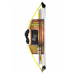 12 Pack 10LB 24 Youth Compound Bow Set Archery Target Practice - Yellow by MegaDeal
