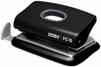 Leitz 23638501 Bürolocher FC10, Kunststoff, 10 Blatt, schwarz