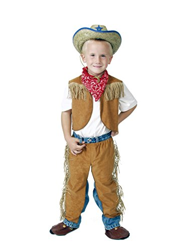 Boys Brown Size 2/4 Western Dressup Halloween Costume Cowboy Set - no hat - 1